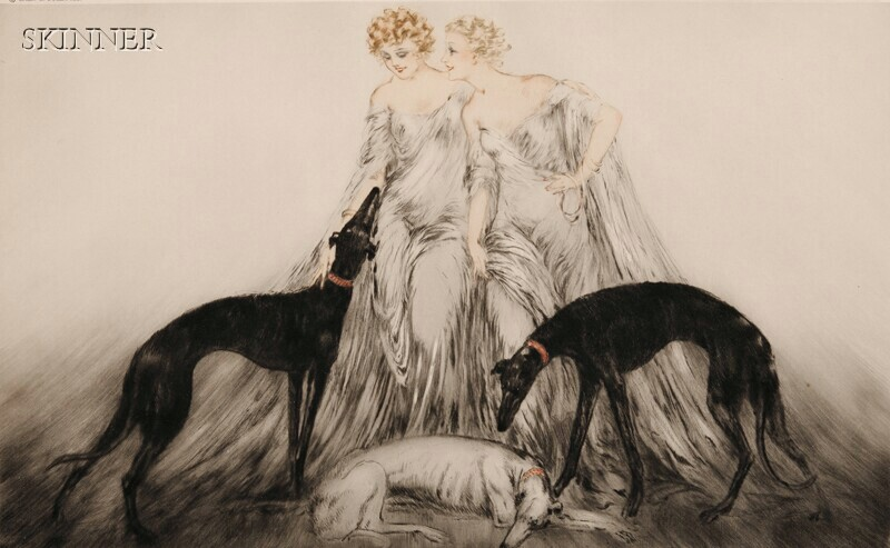 Louis Icart (French, 1888-1950)      Coursing III