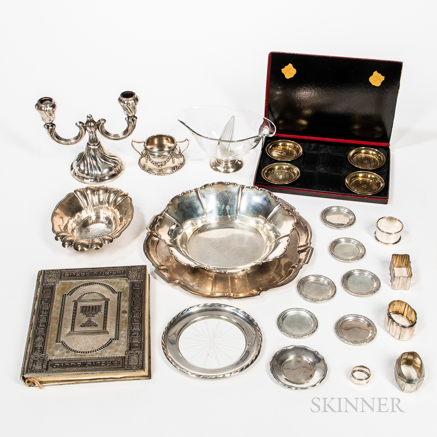 Group of Sterling Silver and .800 Silver Hollowware