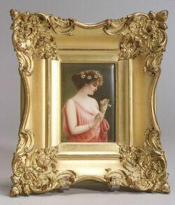 Hutschenreuther Porcelain Plaque of Marguerite