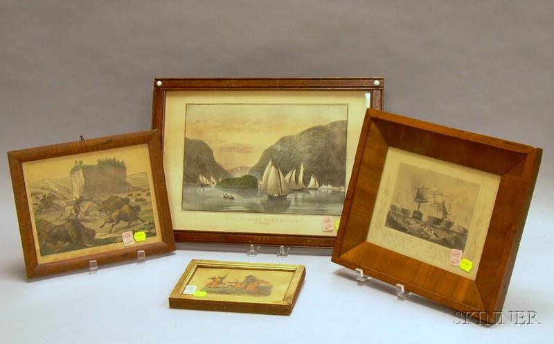 Four Framed Decorative Lithograph Prints