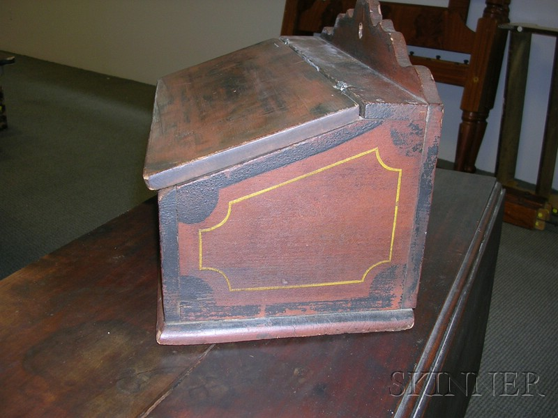Paint-Decorated Wooden Wall Box