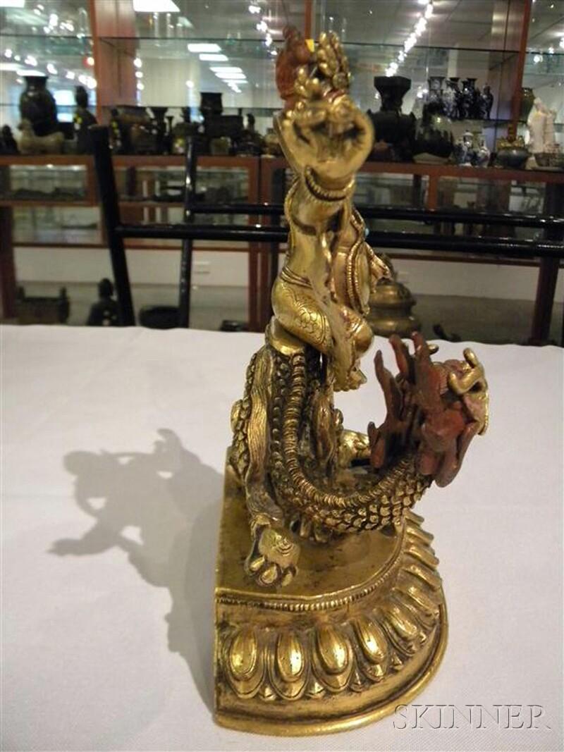 Gilt-bronze Kubera