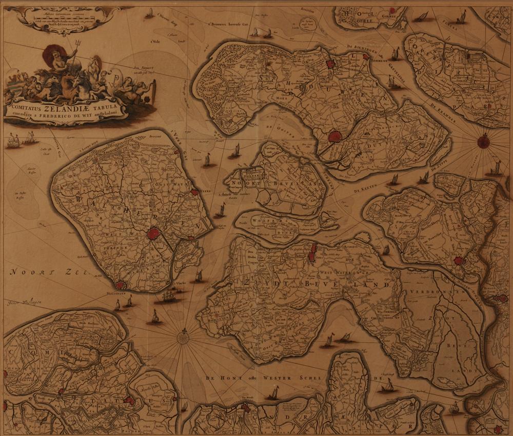 Zeeland, Frederick DeWit (1629/30-1706),   Comitatus Zelandiae Tabula emendata a Frederico de Wit