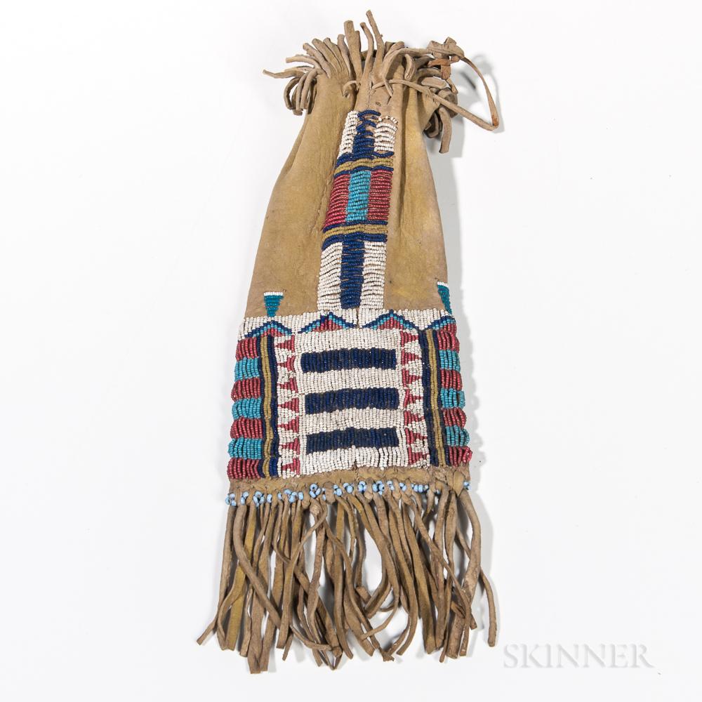 Cheyenne Beaded Hide Bag