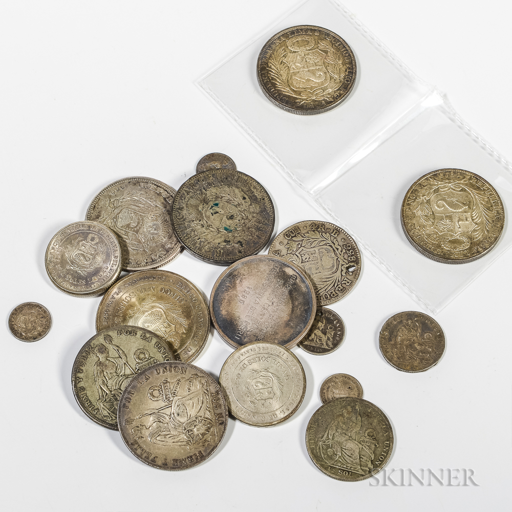 Small Group of South American Silver Coins