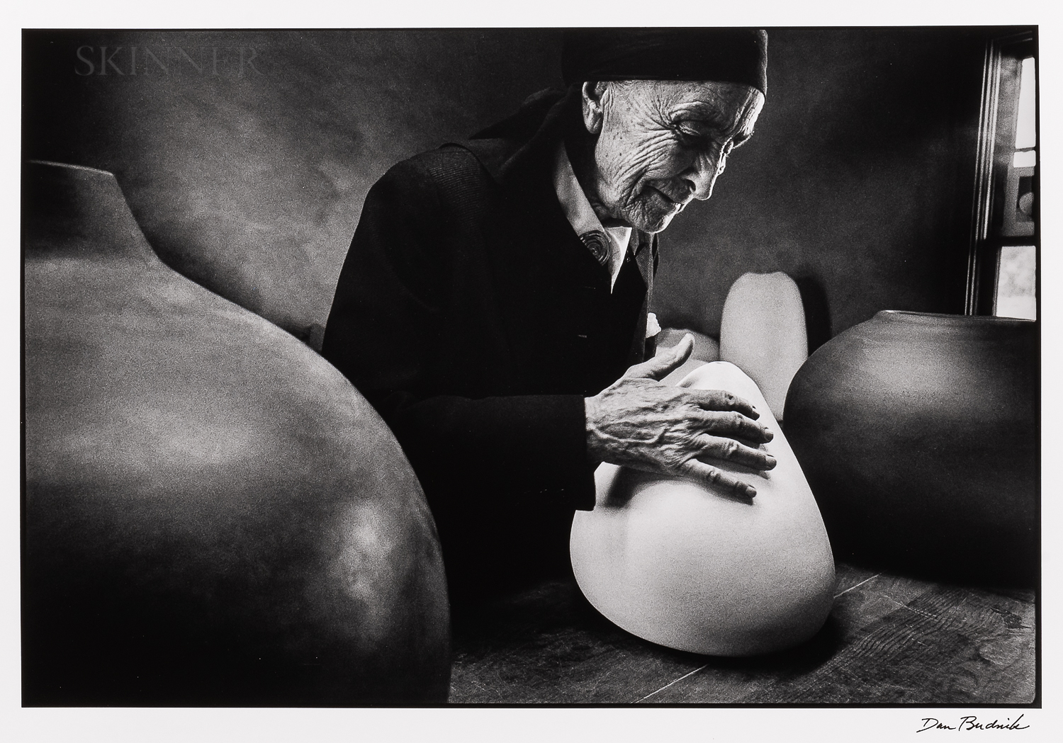 Dan Budnik (American, 1933-2020)    Georgia O'Keeffe at the Ghost Ranch with Pots by Juan Hamilton, New Mexico