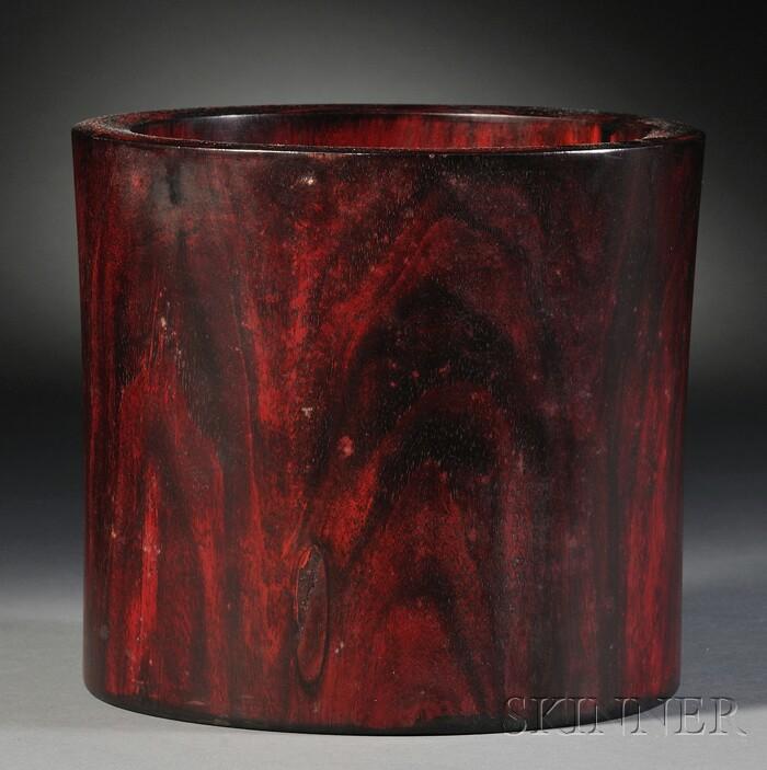 Rosewood Brush Pot