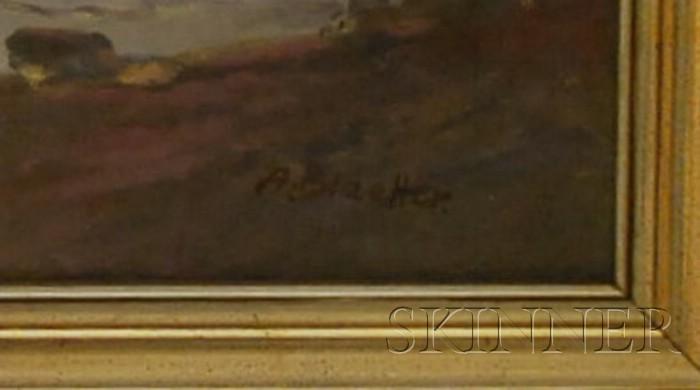 Albert Blaetter (German, 1878-1930)      Seascape.