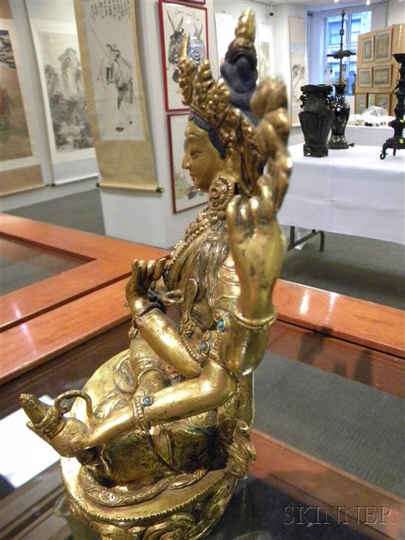 Gilt-bronze Vairocana