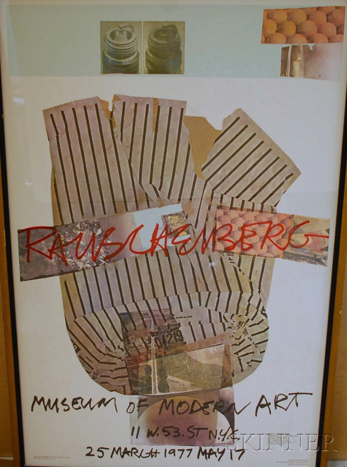 Robert Rauschenberg (American, b. 1925)      Museum of Modern Art Exhibition Poster, March 25-May 17, 1977.