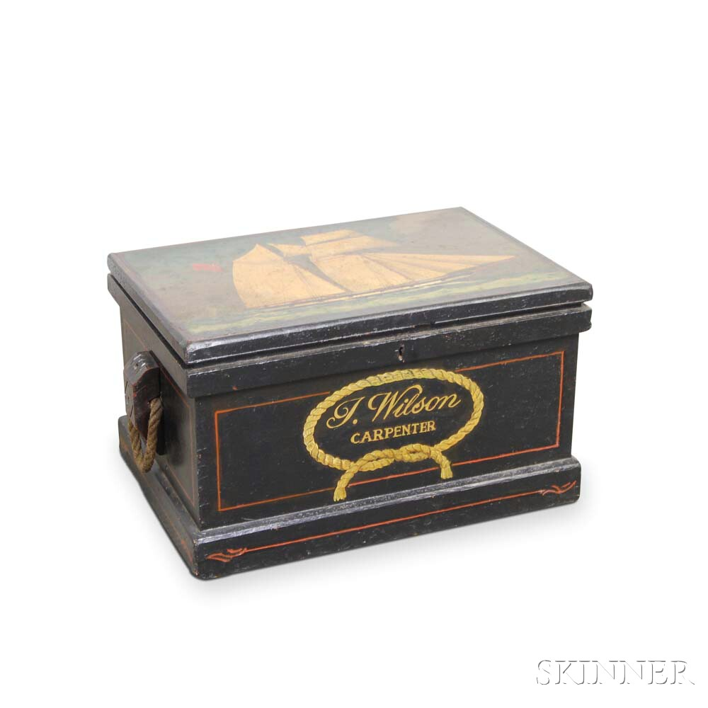 Small Paint-decorated Sea Chest