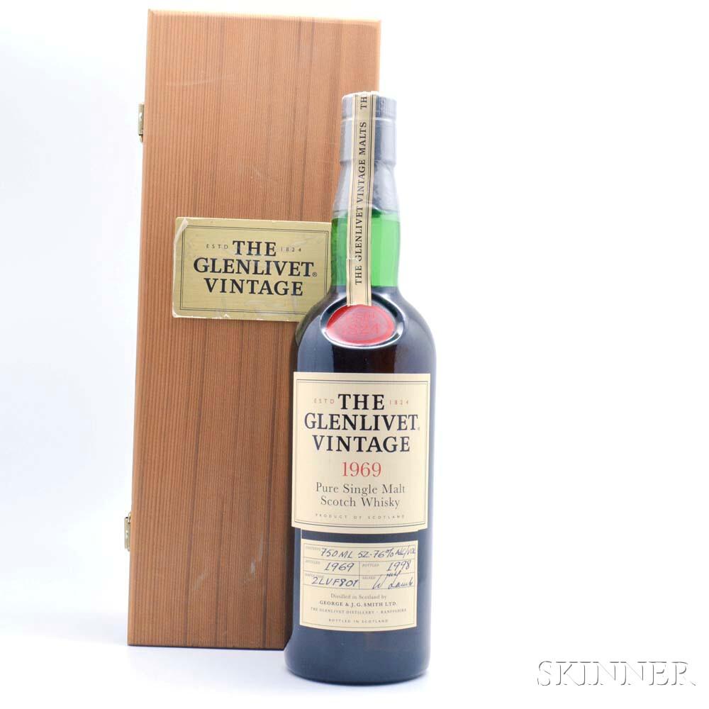 The Glenlivet Vintage 1969, 1 750ml bottle (wc)