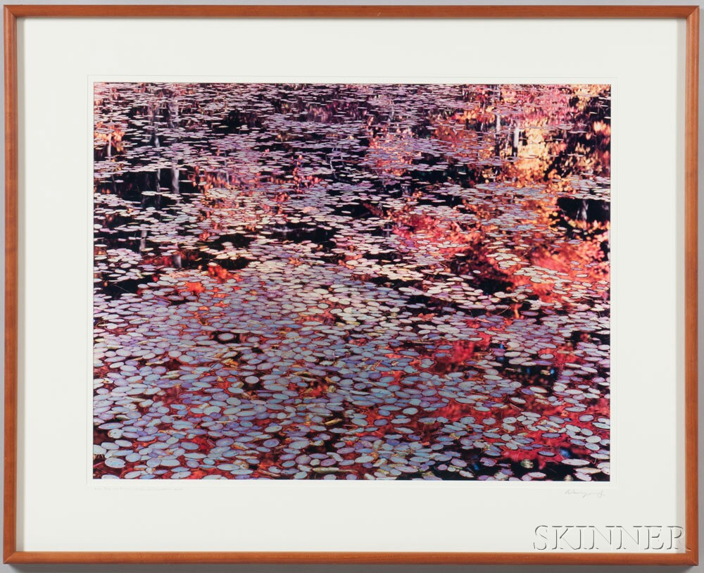 Three 20th Century American Landscape Photographs:      Christopher Burkett (American, b. 1951) Autumn Tempest