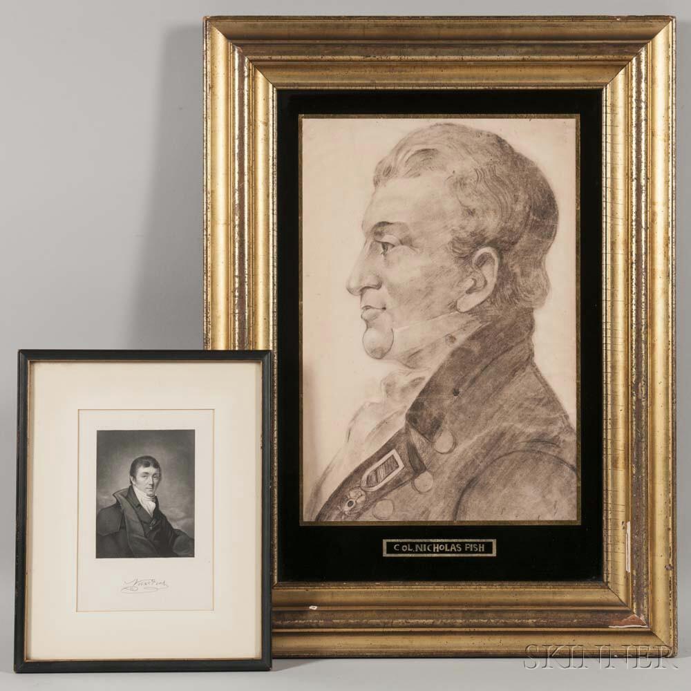 In the Manner of Charles Balthazar Julien Févret de Saint-Mémin (France/America, 1770–1852), Portrait of Colonel Nicholas Fish (New Yor