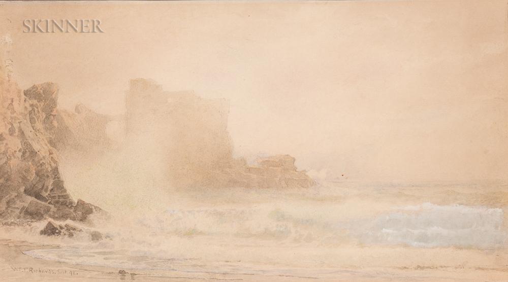 William Trost Richards (American, 1833-1905)      Coastal Cliff