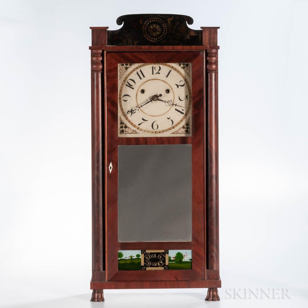 """Silas Hoadley """"Time is Money"""" Shelf Clock"""