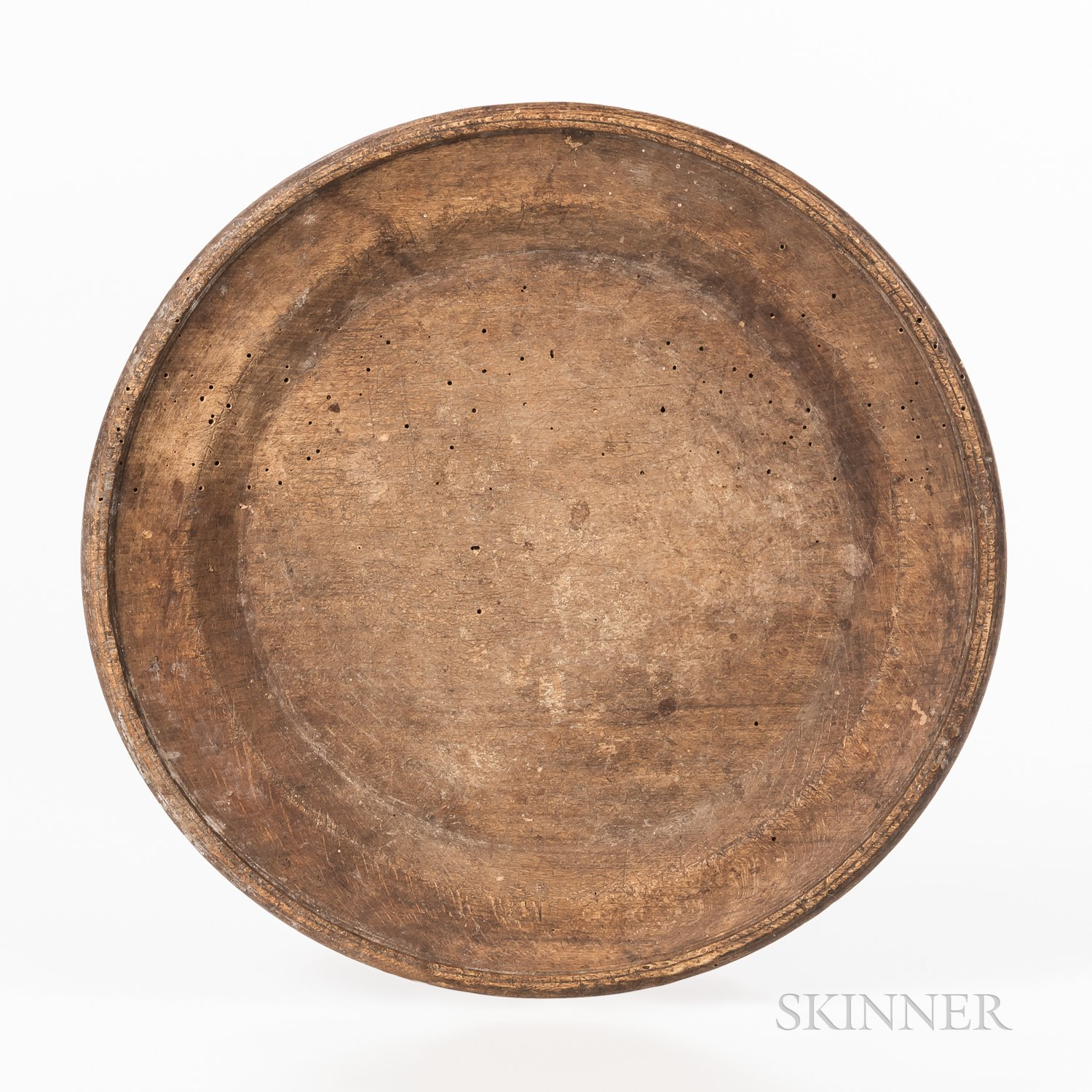 Large Turned Wooden Plate