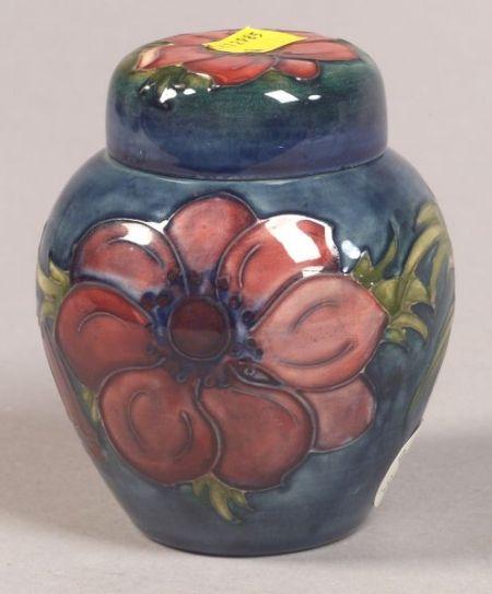 Small Moorcroft Earthenware Covered Jar