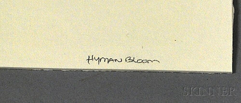 Hyman Bloom (American, 1913-2009)      Drawing of a Rabbi.