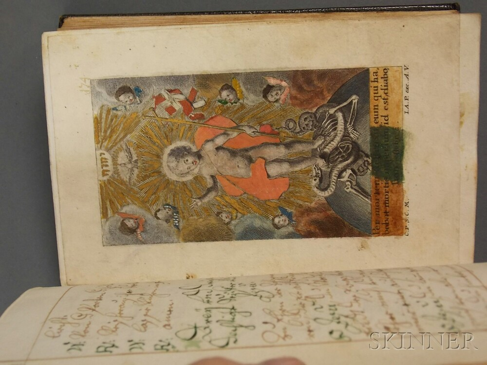 Manuscript on Paper, Prayer Book, German, 18th Century.