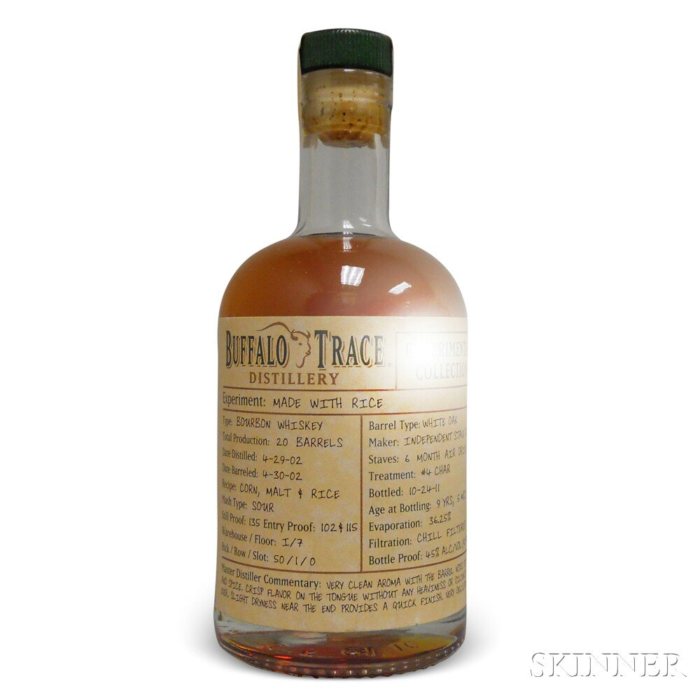 Buffalo Trace Experimental Collection Bourbon Made with Rice 9 Years 5 Months Old, 1 375ml bottle