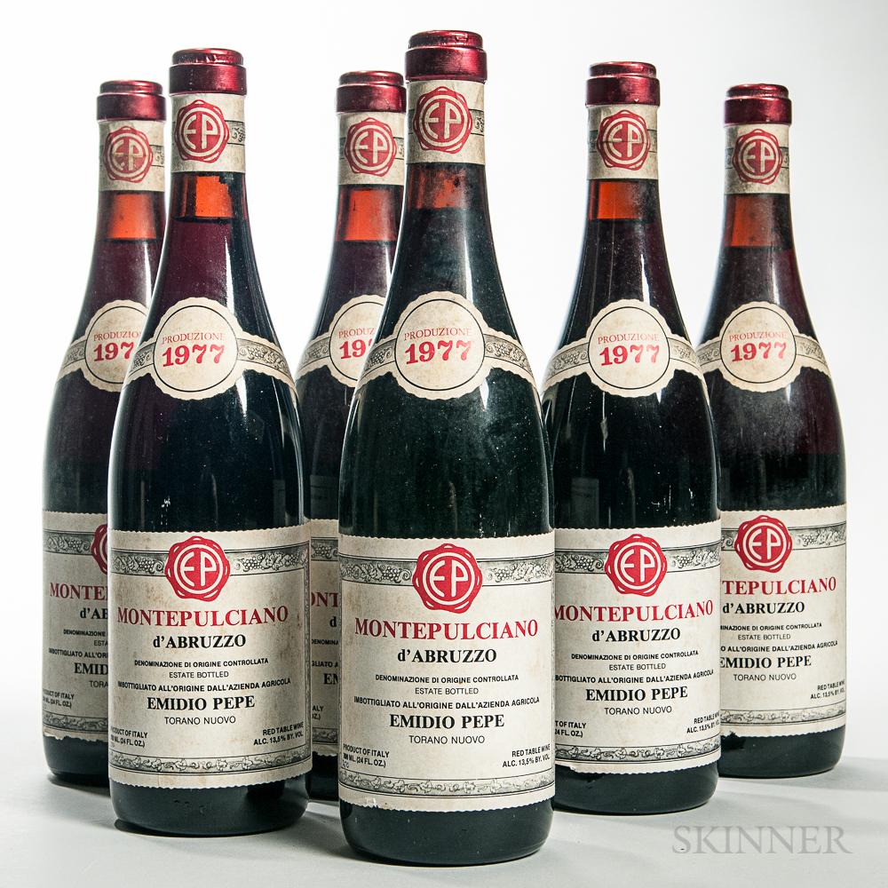 Emidio Pepe Montepulciano dAbruzzo 1977, 6 bottles