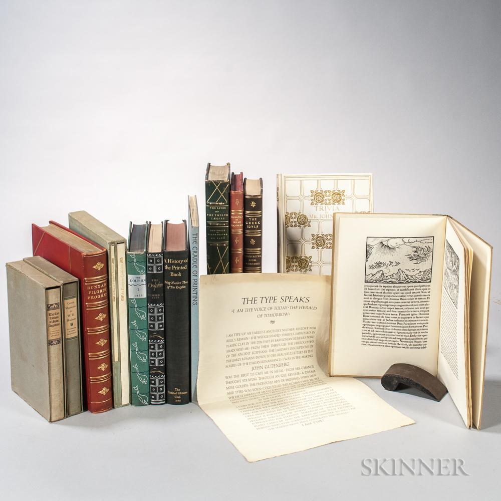 Fine Press, Limited Edition, Historic Facsimiles, Eleven Titles and One Broadside.
