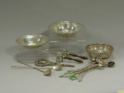 Twenty Assorted Sterling Silver and Plated Items