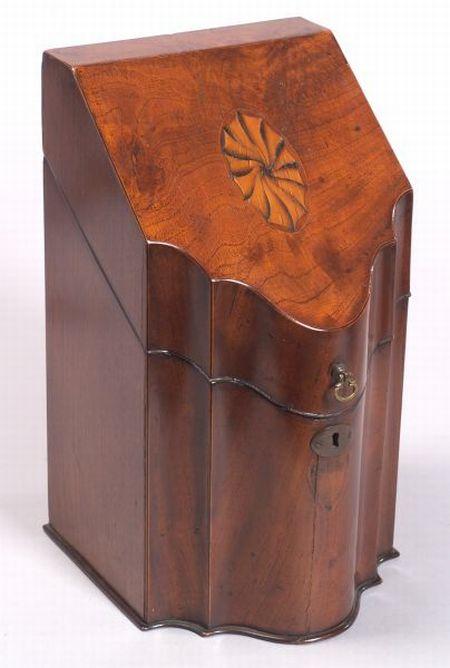 George III Mahogany and Inlay Knife Box