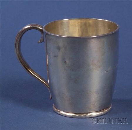 Boston Federal Coin Silver Mug