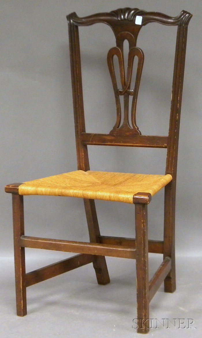 Chippendale Carved Cherry Side Chair