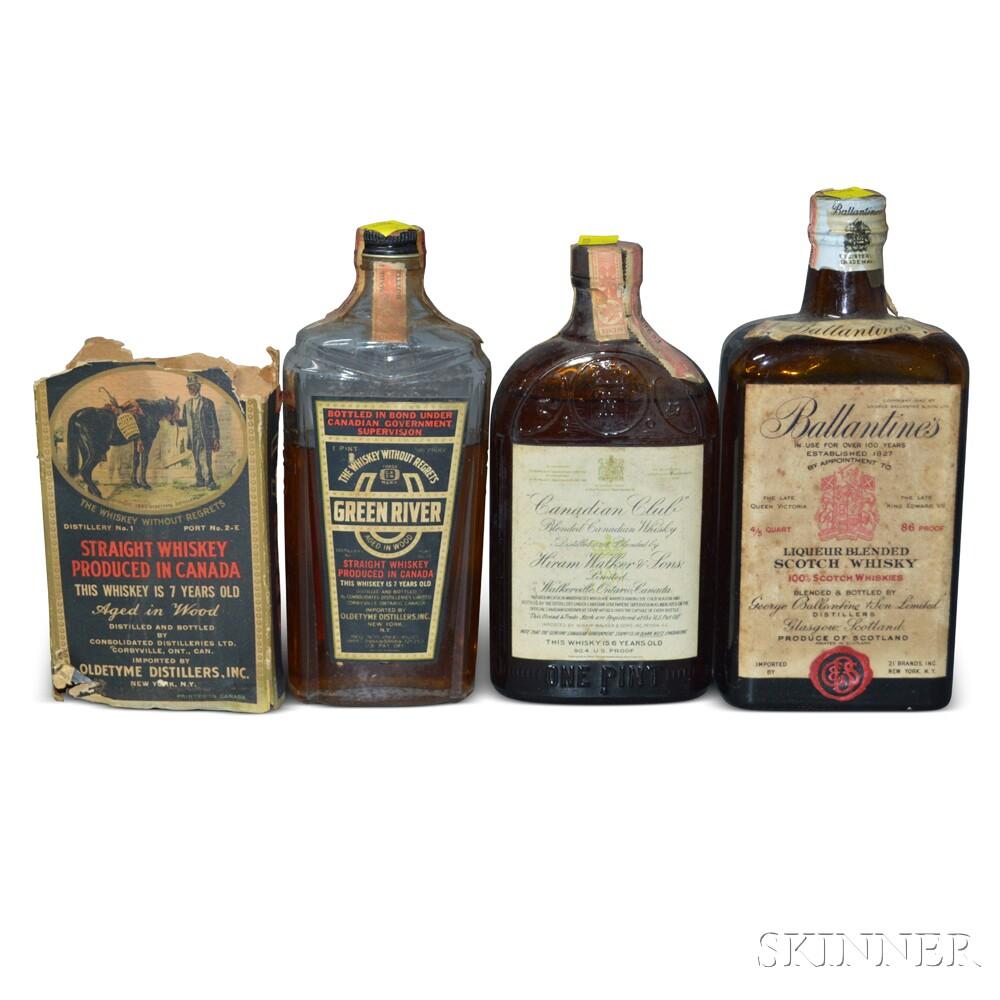 Mixed Spirits, 2 pint bottles 1 4/5 quart bottle