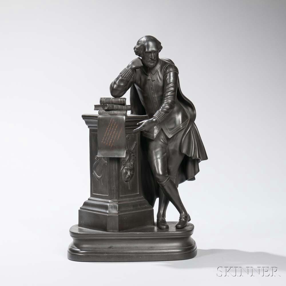 Wedgwood Black Basalt Figure of Shakespeare