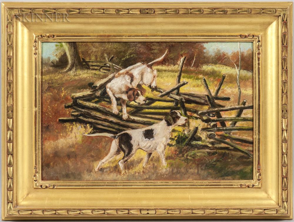 American School, 20th Century    Hunting Dogs