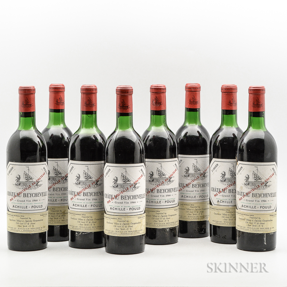 Chateau Beychevelle 1966, 8 bottles