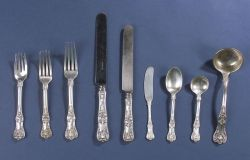 "Tiffany & Co. Sterling Partial ""King"" Pattern Flatware Service"