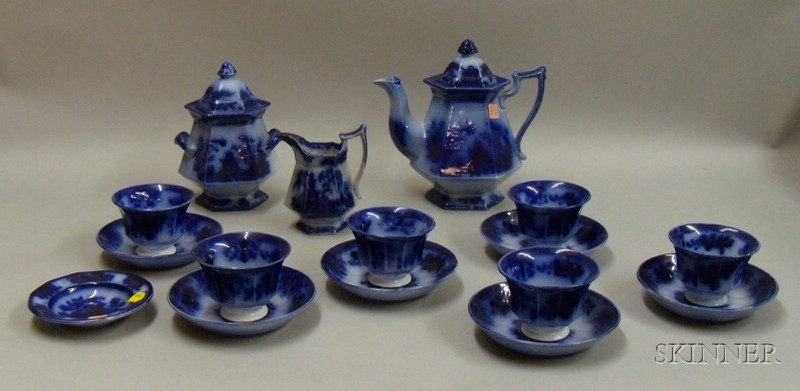 Flow Blue Ironstone Tea Service