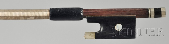 French Nickel-mounted Violin Bow, School of Jean Joseph Martin