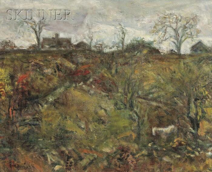 Charles Harold Davis (American, 1856-1933)      Autumn Hillside