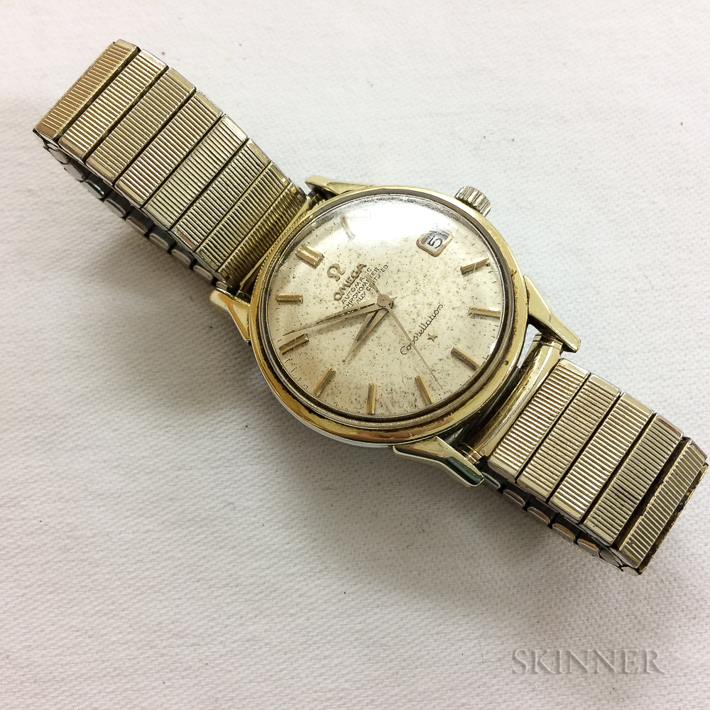 "Omega 14kt Gold Men's ""Constellation"" Wristwatch"