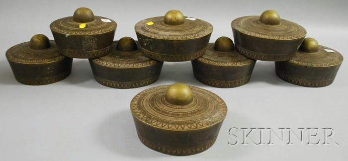 Set of Eight Kulintang Bronze Gongs