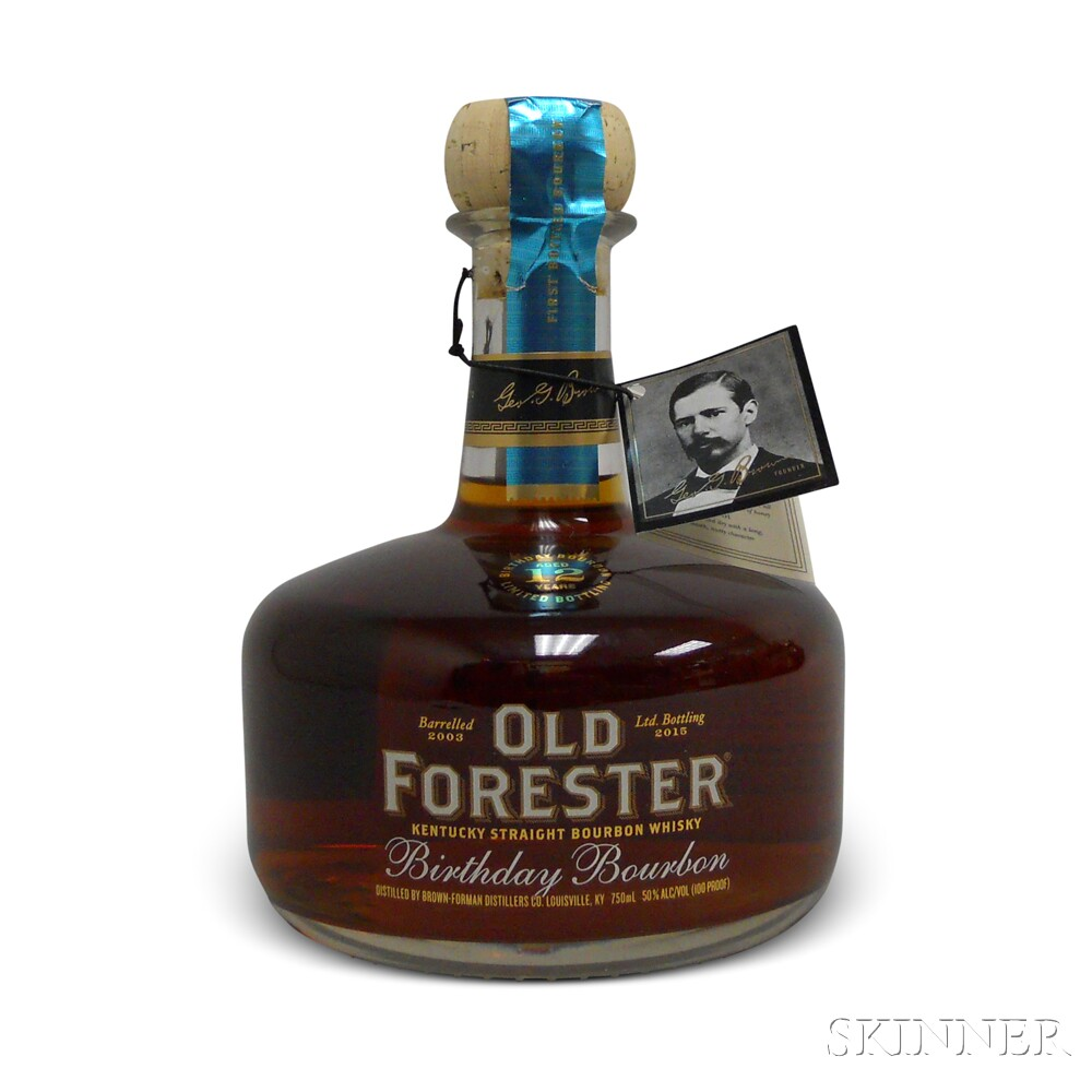 Old Forrester Birthday Bourbon 12 Years Old 2015, 1 750ml bottle