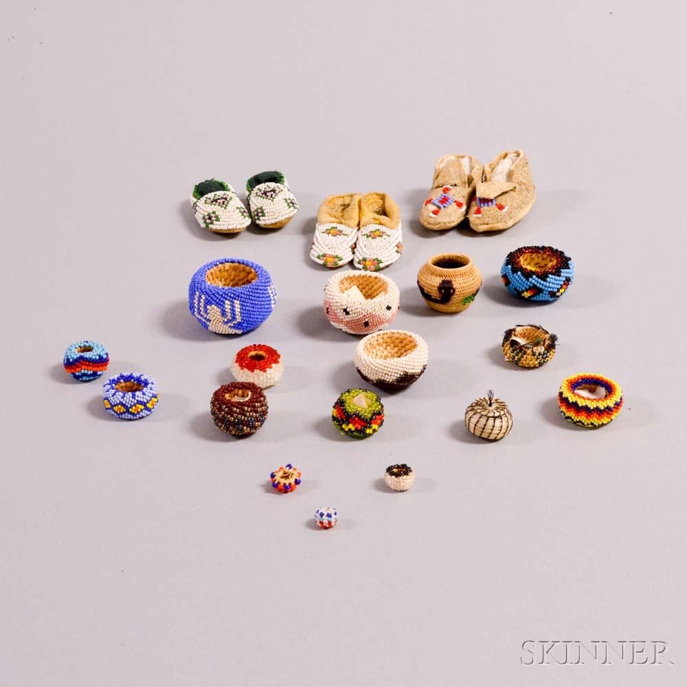 Nineteen Miniature Items