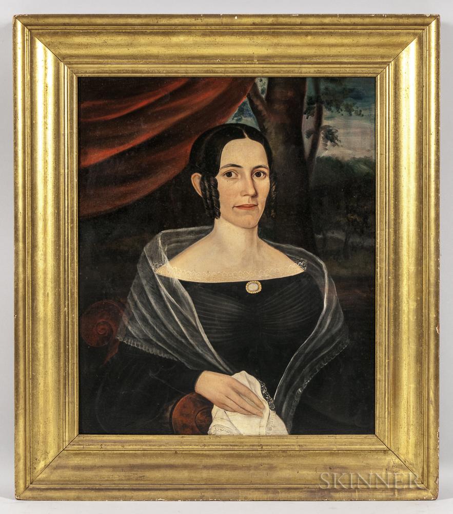 Joseph Whiting Stock (Massachusetts, 1815-1855)      Portrait of a Woman in Black
