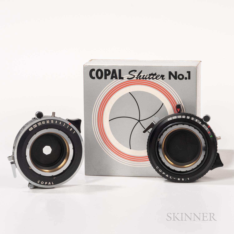 Two Copal No. 1 Large Format Camara Shutters