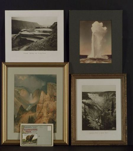 Five Photographic Items Relating to Yellowstone Park