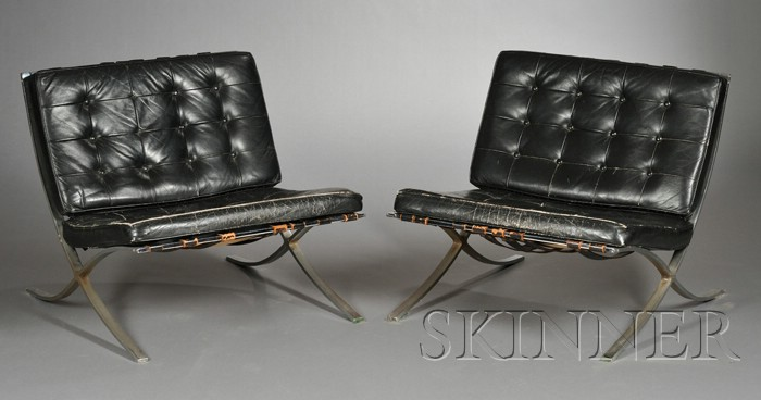 Pair of Barcelona Chairs