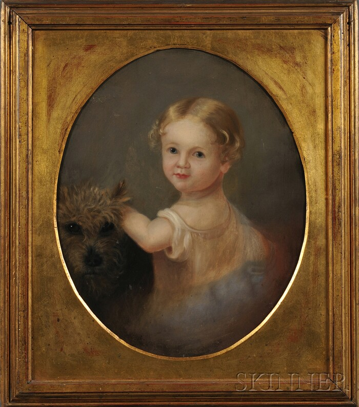 Mary Jane Peale (American, 1827-1902)      Anna Francis Peale, Aged One Year