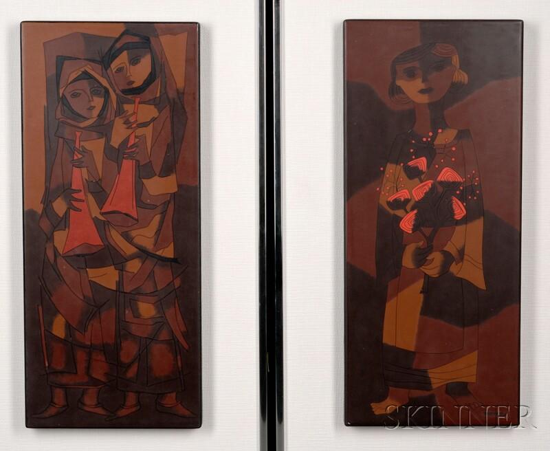 Joseph Trippetti (American, b. 1923)      Two Works: Flower Girl