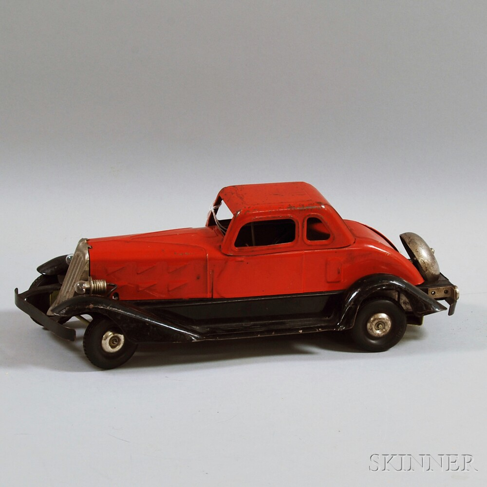 """Hoge """"Fire Chief"""" Pressed Steel Friction-driven Coupe"""